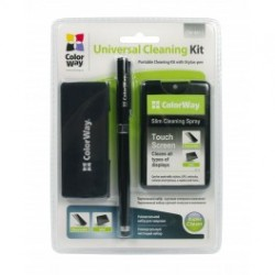 Colorway rensesæt med en stylus til mobil og tablet-enheder (cw-4811)