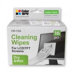 Colorway våd / tør servietter sæt til skærm og skærm cleaning (cw-1334)
