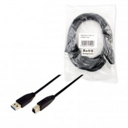 Logilink usb 3.0 cable a-male to b-male 1m. usb 3.0 cable, a-mal