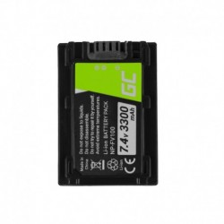 Green Cell Digital Camera Battery for Sony DCR-DVD506E DCR-DVD510E HDR-CX116E HDR-CX130 HDR-CX155E HDR-UX9E 7.4V 3300mAh
