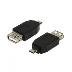 Adapter usb 2.0 micro b male til usb 2.0-a female