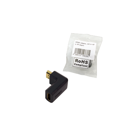 Logilink hdmi adapter 90° angled 19 pin f/ m