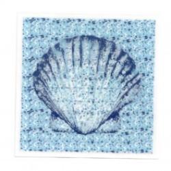 Wenko 3d dekortion, blå musling