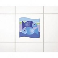 Wenko 3d dekortion, blå fisk