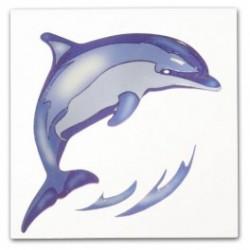 Wenko 3d dekortion, blå delfin