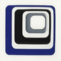 Wenko 3d dekortion, blå firkant