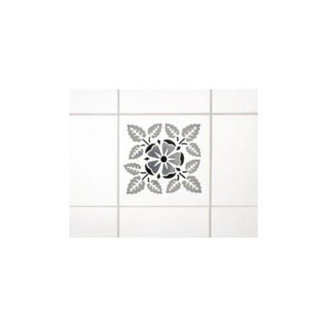Wenko 3d dekortion, sølv blomst