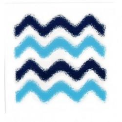 Wenko 3d dekortion, blå bølger