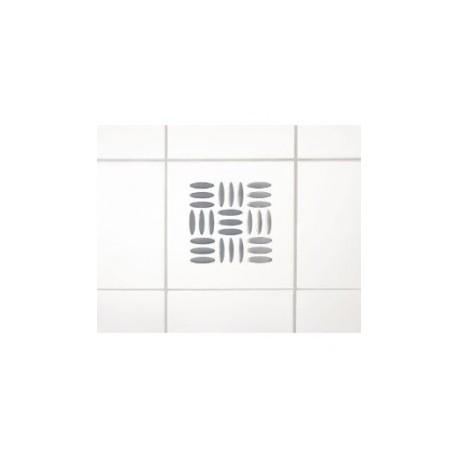 Wenko 3d dekortion, sølv firkant