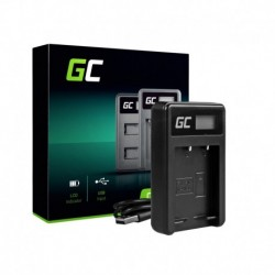 Green Cell Battery Charger BC-W126 for Fujifilm NP-W126, FinePix HS30EXR, HS33EXR, HS50EXR, X-A1, X-A3, X-E1