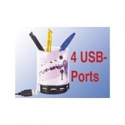 Usb penneholder med 4 port hub
