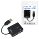 Logilink smile usb 2.0 hub 4-port, black