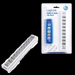 Logilink 10-port usb 2.0 hub incl. 3.5a ps, white
