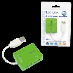Logilink smile usb 2.0 hub 4-port, green