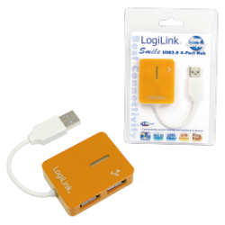 Logilink smile usb 2.0 hub 4-port, orange