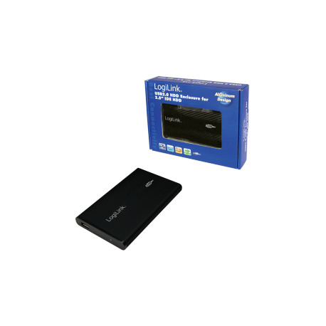 Logilink enclosure 2.5 inch ide hdd usb 2.0 alu black
