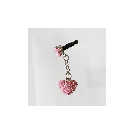 Sushimi pink hjerte vedhæng