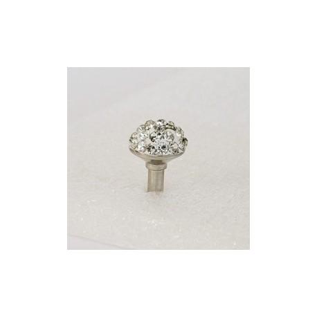 Sushimi hvid krystal mini kugle