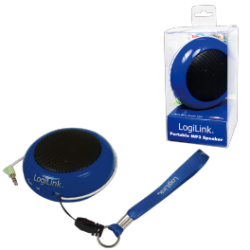 Logilink portable lithium ion battery powered speakers blue