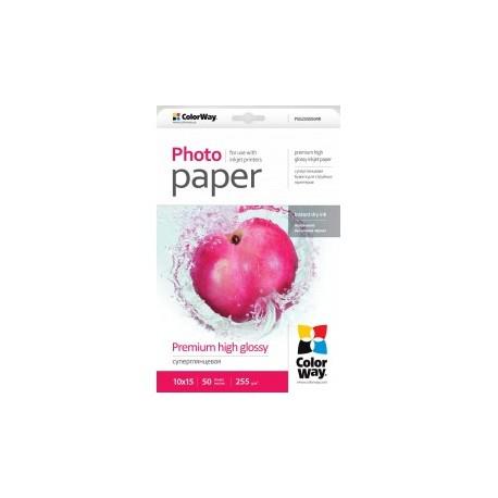 Fotopapir colorway præmie høj blankt 255 g / m², 10х15, 50 ark (psg2550504r)