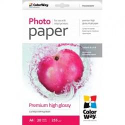 Fotopapir colorway præmie høj blankt 255 g / m², a4, 20 ark (psg255020a4)