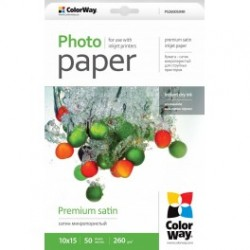 Fotopapir colorway præmie satin 260 g / m², 10х15, 50 ark (ps2600504r)