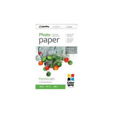 Fotopapir colorway præmie satin 260 g / m², 10х15, 50 ark (ps2600504r)