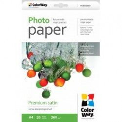 Fotopapir colorway præmie satin 260 g / m², a4, 20 ark (ps260020a4)