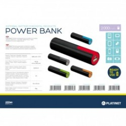 Platinet power bank 2000mah + microusb kabel