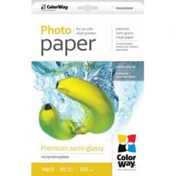 Fotopapir colorway præmie halvblank 255 g / m², 10х15, 50 ark (png2550504r)