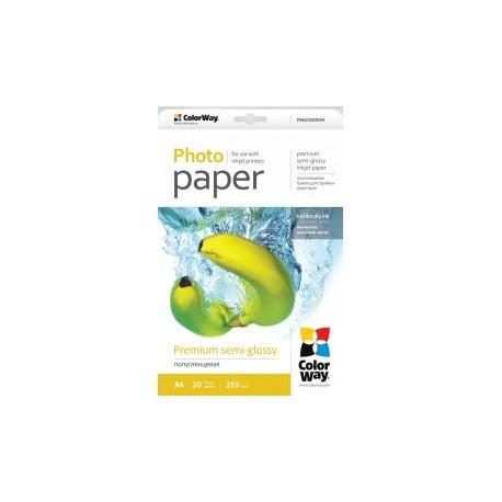Fotopapir colorway præmie halvblank 255 g / m², a4, 20 ark (png255020a4)