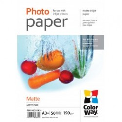 Fotopapir colorway mat 190 g / m², a3 +, 50 ark (pm190050a3 +)