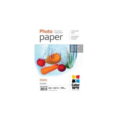 Fotopapir colorway mat 190 g / m², a3 +, 50 ark (pm190050a3 +)