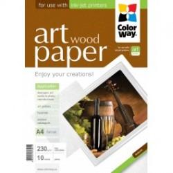 """Fotopapir colorway art blank tekstur """"træ"""" 230 g / m², a4, 10 ark (pga230010wa4)"""