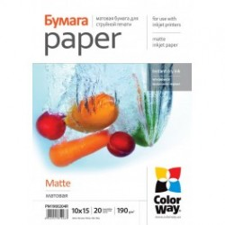 Fotopapir colorway mat 190 g / m², 10х15, 20 ark (pm1900204r)