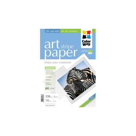 "Fotopapir colorway art blank tekstur ""strimmel"" 230 g / m², a4, 10 ark (pga230010sa4)"