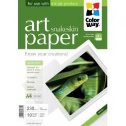 """Fotopapir colorway art blank tekstur """"slangeskind"""" 230 g / m², a4, 10 ark (pga230010pa4)"""