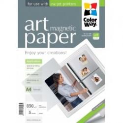 "Fotopapir colorway art blank ""magnetisk"" 690 g / m², a4, 5 ark (pga690005ma4)"