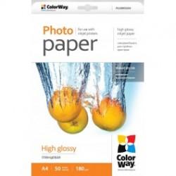 Fotopapir colorway høj blankt 180 g / m², a4, 50 ark (pg180050a4)