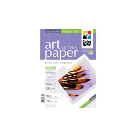 Fotopapir colorway art cotton canvas 380 g / m², a3 +, 10 ark (pcn380010a3 +)