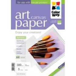 Fotopapir colorway art cotton canvas 380 g / m², a4, 5 ark (pcn380005a4)