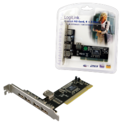 Logilink pci interface card usb 2.0 4+1x