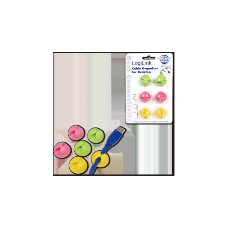 Logilink kabel holder 6 stk pakning forskellige farver